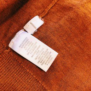 LOFT Sweaters - Ann Taylor LOFT Burnt Orange Button-Up Cardigan